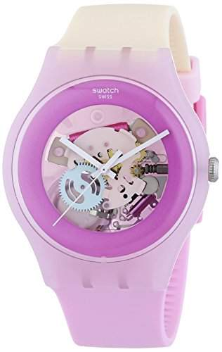 Swatch Damen-Armbanduhr New Gent Sweet Me Analog Quarz Silikon SUOP101