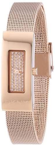 DKNY Damen-Armbanduhr XS Analog Quarz Edelstahl NY2111