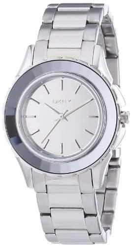 DKNY Damen-Armbanduhr XS Analog Quarz Edelstahl NY2115