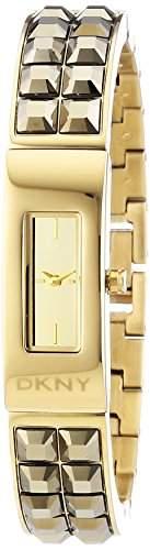 DKNY Damen-Armbanduhr Analog Quarz Edelstahl beschichtet NY2228