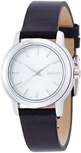 Dkny Holiday 14 Damen Schwarz Leder Armband Edelstahl Gehaeuse Uhr NY2269