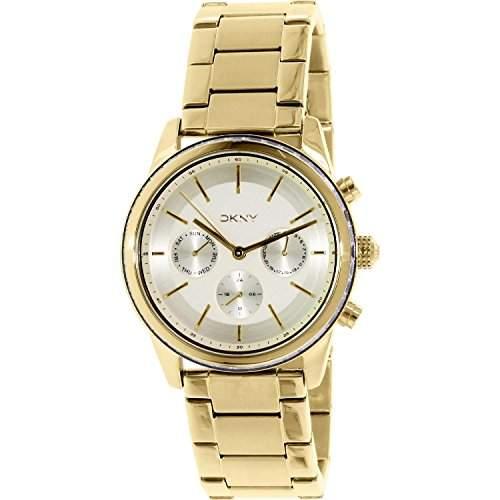 Dkny Damen 38mm Chronograph Gold Edelstahl Armband & Gehaeuse Datum Uhr ny2330