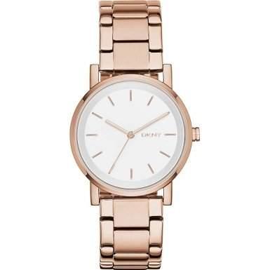 DKNY Damen-Armbanduhr Analog Quarz Edelstahl NY2344