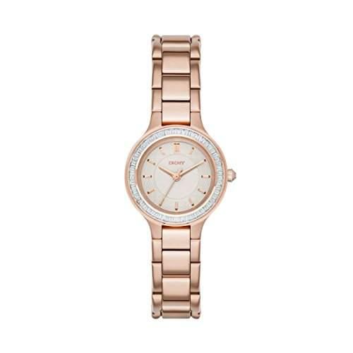 DKNY Damen-Armbanduhr Analog Quarz Edelstahl NY2393