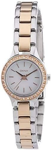 DKNY Damen-Armbanduhr XS Analog Quarz Edelstahl NY8811