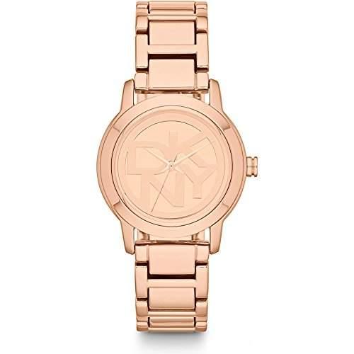 DKNY Damen-Armbanduhr XS Analog Quarz Edelstahl beschichtet NY8877