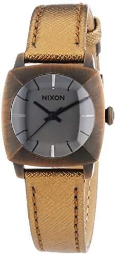 Nixon Damen-Armbanduhr XS Parody Antique Copper Analog Quarz Leder A401894-00