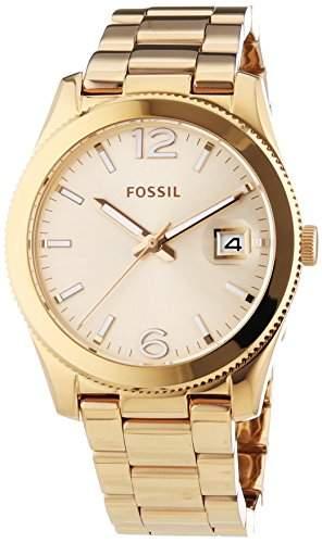 Fossil Damen-Armbanduhr Perfect Boyfriend Analog Quarz Edelstahl ES3587