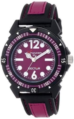 Sector Armbanduhr SchwarzRot 40 mm