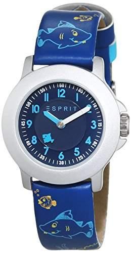Esprit Unisex-Armbanduhr Sea Playground Blue Analog Quarz Leder ES103454009