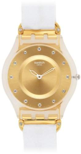 Swatch Skin White Silk Damenuhr SFK374G