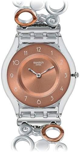 Swatch Damen-Armbanduhr Analog Quarz Plastik SFK395HA