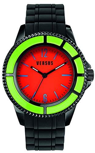 Versus Womens Armbanduhr Analog-Anzeige und Schwarz PU Strap SGM11 0014