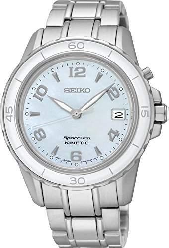 Seiko Damen-Armbanduhr Analog Quarz Edelstahl SKA879P1