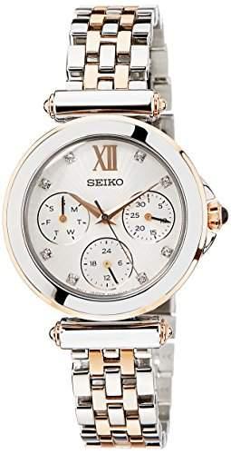 Seiko Damen-Armbanduhr Analog Quarz Edelstahl SKY700P1