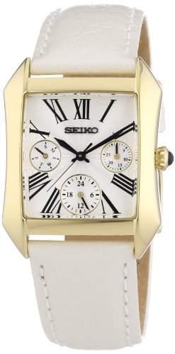 Seiko Damen-Armbanduhr Analog Quarz Leder SKY736P2