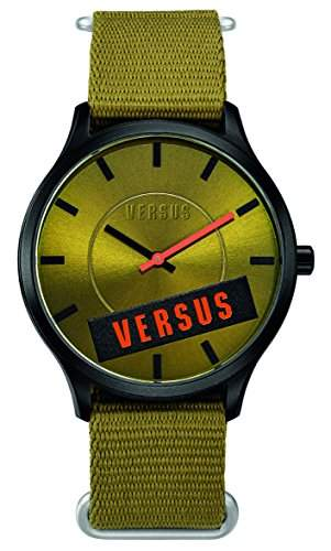 Versus WomenDamen Armbanduhr Analog Kunststoff gruen Textilband SO608 0014