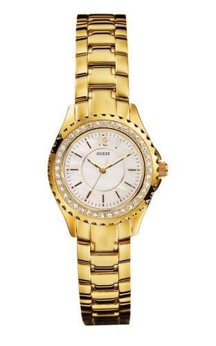 Guess Damen-Armbanduhr Analog Quarz Edelstahl I11068L1