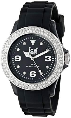 Ice-Watch Armbanduhr Stone-Sili Unisex Schwarz STBSUS09