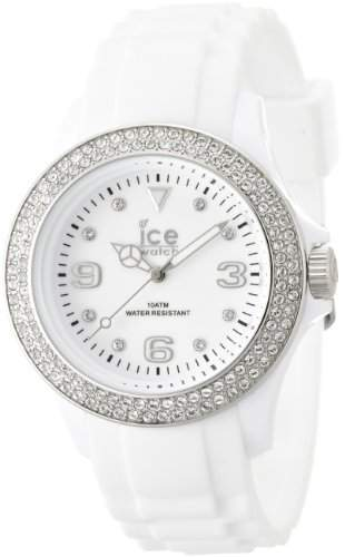 Ice-Watch Damen-Armbanduhr Stone-Sili Unisex Weiss STWSUS09