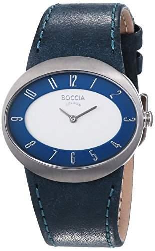 Boccia Damen-Armbanduhr Mit Lederarmband Trend 3165-03