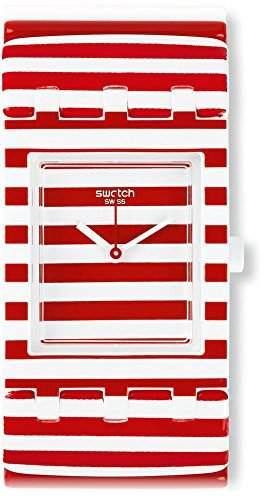 Swatch Damen-Armbanduhr Analog Quarz Plastik SUBW111B