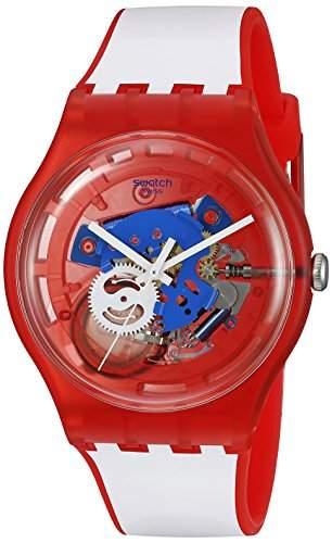 Swatch Unisex-Armbanduhr Analog Quarz Silikon SUOR102