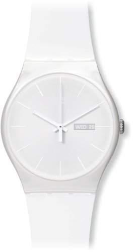 Swatch Damen-Armbanduhr White Rebel Analog Quarz Plastik SUOW701