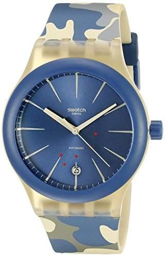 Swatch Unisex-Armbanduhr Analog Quarz Silikon SUTT400