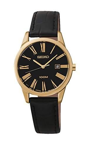 Seiko Damen-Armbanduhr Analog Quarz Leder SXDG32P1