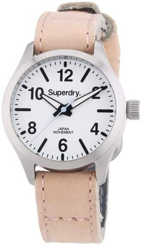 Superdry Damen-Armbanduhr XS Analog Quarz Leder SYL113P