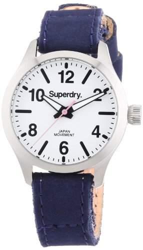 Superdry Damen-Armbanduhr XS Analog Quarz Leder SYL113U