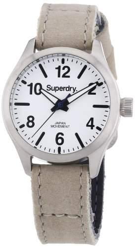 Superdry Damen-Armbanduhr XS Analog Quarz Leder SYL113W