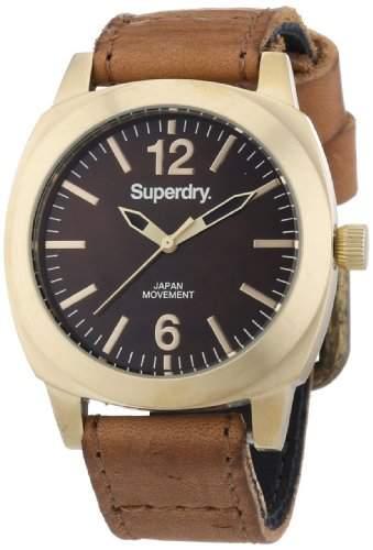 Superdry Damen-Armbanduhr Analog Quarz Leder SYL117TG