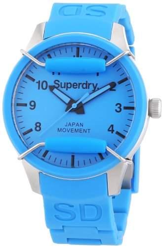 Superdry Damen-Armbanduhr Analog Quarz Silikon SYL120AU