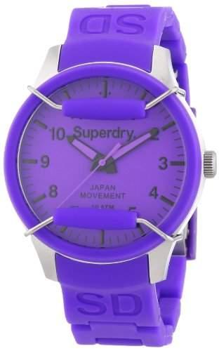 Superdry Damen-Armbanduhr Analog Quarz Silikon SYL120V