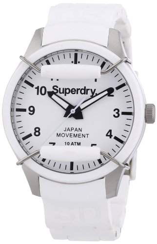 Superdry Damen-Armbanduhr Analog Quarz Silikon SYL120W