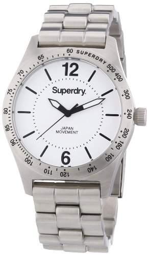 Superdry Damen-Armbanduhr Analog Quarz Edelstahl SYL124WM