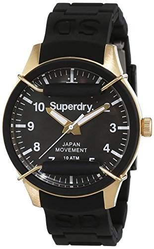Superdry Damen-Armbanduhr Analog Quarz Silikon SYL128B