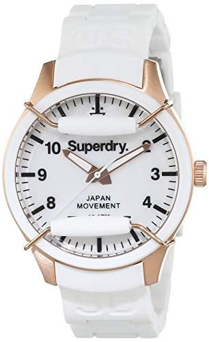 Superdry Damen-Armbanduhr Analog Quarz Silikon SYL128W
