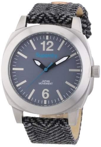 Superdry Damen-Armbanduhr Analog Quarz Textil SYL129E