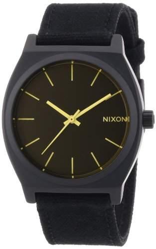 Nixon Unisex-Armbanduhr The Time Teller Analog Quarz Textil A0451354-00