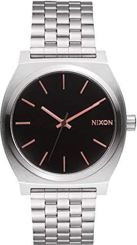 Nixon Time Teller 37mm Gray-Rose Gold Armbanduhr Unisex