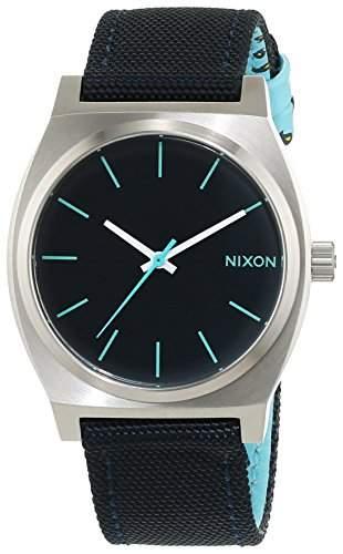 Nixon Damen-Armbanduhr Time Teller Navy  Paisley Dot Analog Quarz Textil A0451985-00