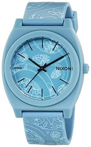 Nixon Damen-Armbanduhr Time Teller P Light Blue  Paisley Analog Quarz Plastik A1191973-00