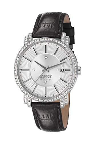 Esprit Damen-Armbanduhr TRITEIA Analog Quarz Leder EL101912F04