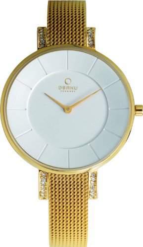 Obaku Denmark Damen-Armbanduhr XS Analog Quarz Edelstahl beschichtet V158LEGIMG