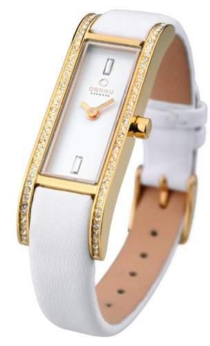 Obaku Denmark Damen-Armbanduhr Analog Quarz Leder V159LEGIRW