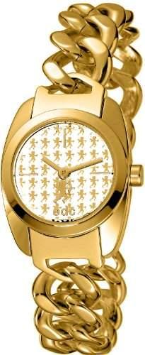 Edc Damen-Armbanduhr XS Velvet Moonlight Glamorous Gold Analog Quarz Alloy EE100252004