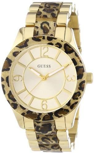 Guess Damen-Armbanduhr Analog Quarz Edelstahl W0014L2